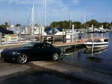 ボートを牽引するRX-8 @ フロリダ