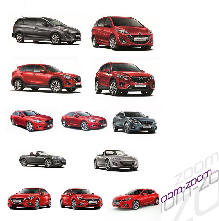 マツダスイスが提供しているマツダフォント・車種別画像等の素材集