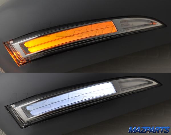 新商品!MC前CX-5用LEDウインカー付き純正カバー交換型ドアミラーカバー、純正色塗装済み、ピアノブラック、未塗装、純正色以外の特注色から選べる!