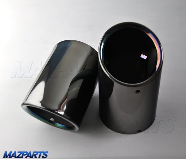 新商品!KE/KF型CX-5, BMアクセラ, GJアテンザ用ブラッククロームタイプのマフラーカッター