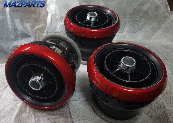 エアコンベゼル(NDロードスター,CX-3,DJデミオ)のボディ同色塗装品の提供も近々開始しますよ