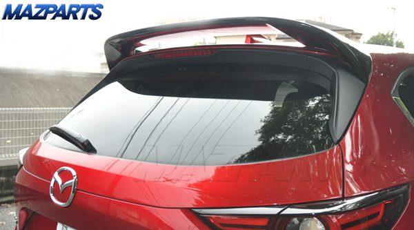 新商品!KF型CX-5用MPSリアスポイラー、まずは塗装済みピアノブラックから発売開始。純正色塗装にも対応しますよ