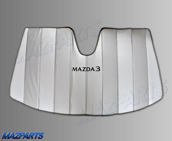 新商品!海外マツダ純正MAZDA3用フロントサンシェード、車内を綺麗に維持したいなら季節関係なく必須のアイテム!