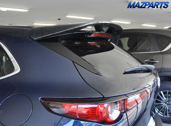 新商品!2つまとめて。Mazda3用ブラックヘアライン仕上げリアバンパーステッププレート、CX-30用カーボンタイプ・ルーフスポイラー、発売開始。スポイラーは写真提供割引も実施中!
